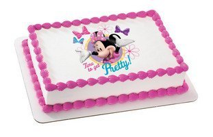 Minnie Mouse - Minnie Pretty Edible Cake Topper / 1 Image by DecoPac