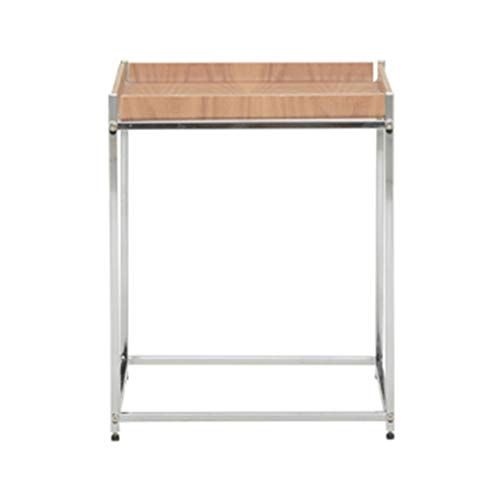 YANGLAN Wohnzimmer Massivholz Couchtisch, Einfache Eiche Kleinen Beistelltisch, Moderne Schmiedeeisen Lagerung Teetisch (Kleine Leute-tee-garten)