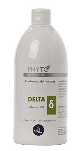 Olio massaggio professionale, decontratturante, viso e corpo, delta phyto professional, con oli essenziali. 500ml