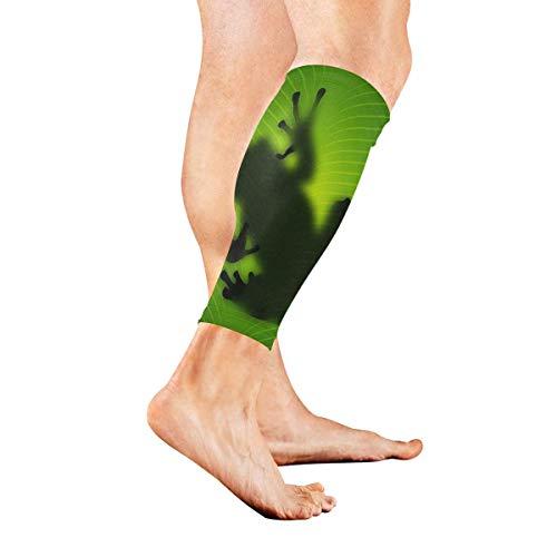 Bein-Ärmel-Ziegen-Silhouette-Kompressions-Socken unterstützen rutschfeste Waden-Ärmel - Verbessern Sie die Durchblutung für Schienbeinschiene, Wadenschmerzen, Laufen, Radfahren, Reisen, Sport 1 Paar