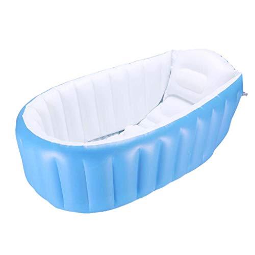 A~LICE&YGG Baby scherzt die aufblasbare Badewanne der Badewanne, die tragbar ist und bequemes Bad faltet, Massage-Qualitätswannen-tränkende Bäder aufblasbare Pools,Blue