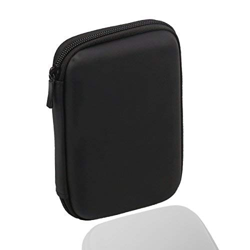 Festplattentasche bis 6,35 cm / 2,5 Zoll Stoßsichere Schutzhülle für HDD Externe Tragbare Festplatte Tasche Schwarz
