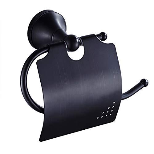 Zywtrade Badezimmerwand hängt Schwarze Bronze Papier Handtuch-Tübel Holder Black Antique Roll Holder European Brass Toilet Paper Box (Papier-handtuch-halter Umbra)