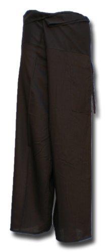 Thai Fisherman Pants Yoga brun foncé écharpe longue pantalons paréos douces