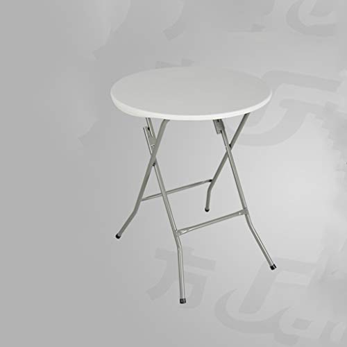 HJBH Table en métal + plastique de haute qualité pliante petite table ronde Petite table Table Home Portable Simple Bureau Petite table de jardin Transportant une tenue confortable et ferme Couleur (b