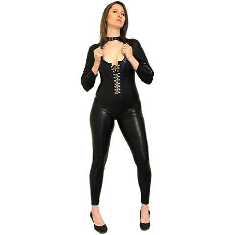I-Glam stile Punk Lycra Atixo-Corsetto da donna, con apertura frontale