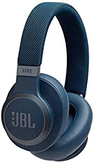JBL Live 650BTNC Wireless Over-Ear Noise-Cancelling Headphones (Blue)