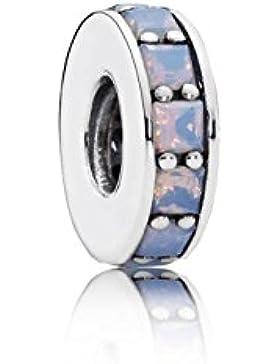 Pandora Damen-Charm Unendlichkeit 925 Silber Kristall weiß Brillantschliff - 791724NOW