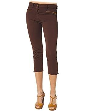 Carrera Jeans - Pantalón 752 para mujer, estilo capri, color liso, tejido gabardina, ajuste regular, cintura normal
