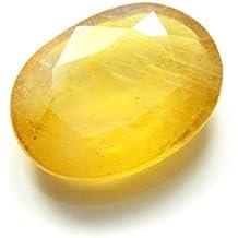 Vaibhav Gems 6.25 Ratti Yellow Sapphire Pukhraj Stone Original Certified Natural Loose Precious Gemstone