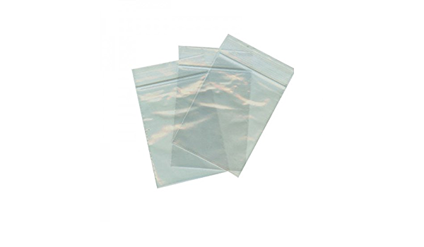 100 sacchetti trasparenti con chiusura adesiva 20 x 30 cm