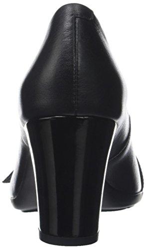 Geox Damen D Annya Spuntato C Peeptoe Pumps Schwarz (Black)