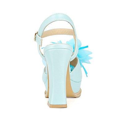 Talloni delle donne Primavera Estate Autunno Altro similpelle ufficio & carriera di feste ed abito da sera tacco grosso Fiore Blu Rosa Viola Bianco White