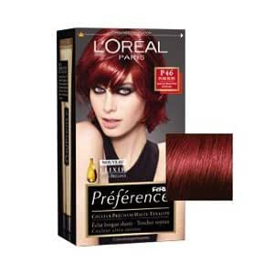 L 39 oreal paris feria hair color p46 ruby power intense for Loreal salon price list