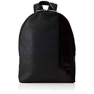 31v BW5hgeL. SS324  - Calvin Klein - Elevated Mix Round Backpack, Mochilas Hombre, Negro (Black), 14x45x30 cm (B x H T)