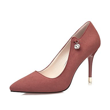 RTRY Donna Comfort Tacchi Suede Cadere Dress Rhinestone Stiletto Heel Mandorla Fucsia Marrone Nero Grigio 3A-3 3/4In US7.5 / EU38 / UK5.5 / CN38