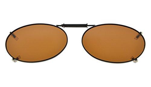Eyekepper Metallrahmen Felge polarisierte Linse Clip auf Sonnenbrille 51x33MM Braun Linse
