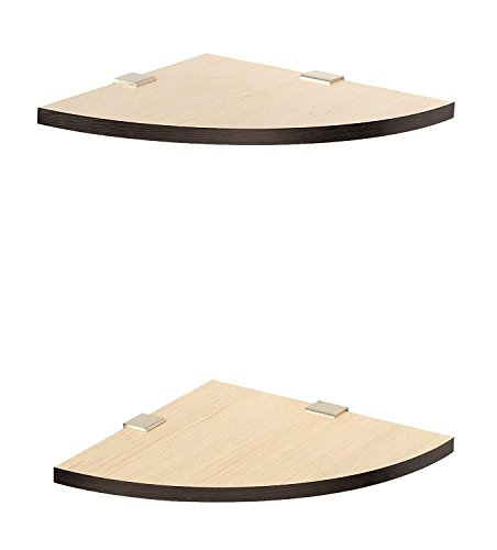 Light Brown Wooden Corner Wall Shelf Set Of 2 By Artesia  available at amazon for Rs.589