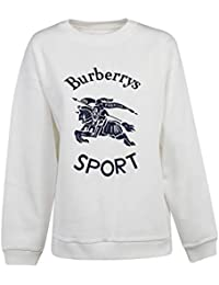74d428b5d437 BURBERRY Femme 8004802 Blanc Coton Sweatshirt