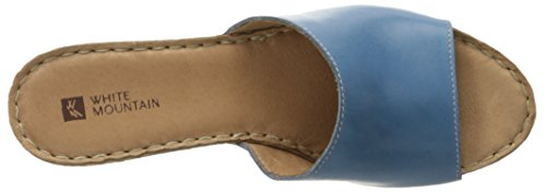 Montanha Sandale Couro Azul Bocado Leder Branco Oq0FwxB5An