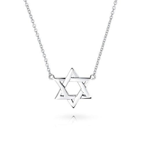 Magen Jüdischen Hanukkah Menorah David Stern Anhänger Kette Mit Anhänger Für Damen Sterling Silber ()