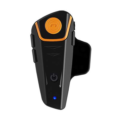 BESTVECH BT-S2 Bluetooth Motorcycle Helmet Headset 1000 m Range Navigator Full Duplex Interphone (Black)