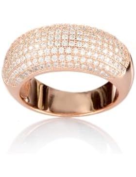 Karisma Damen Silber 925 Eternity Ring Rosé Gold Gefasste Zirkonia Steine Weiss - HS-RRG06