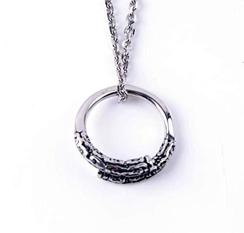 L&H Men Es Titanium Steel Halskette Thin Ring Pendant Gewinnt Buddha ' S King Tail Ring Schmuck Geschenk