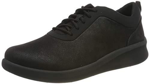 Clarks Damen Sillian2.0Pace Sneaker, Schwarz (Black Textile), 35.5 EU