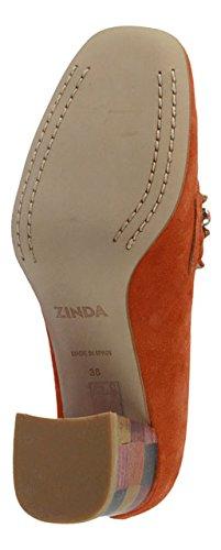 Zinda 2785 Orange Velour, Mocassini donna Orange