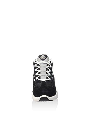 Fornarina Sneaker Wedge Grau Nubuk / Nylon Artikel PEFUP1183WVA0601 neue Frühlings-Sommer Kollektion 2016 PEFU P1183WVA 0601 Schwarz