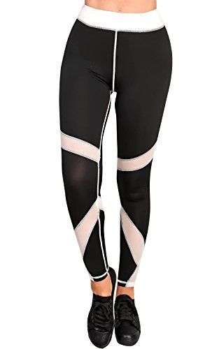 Womens Ladies Girls Glam Gym Stretchy Work Out Active Gym Set white