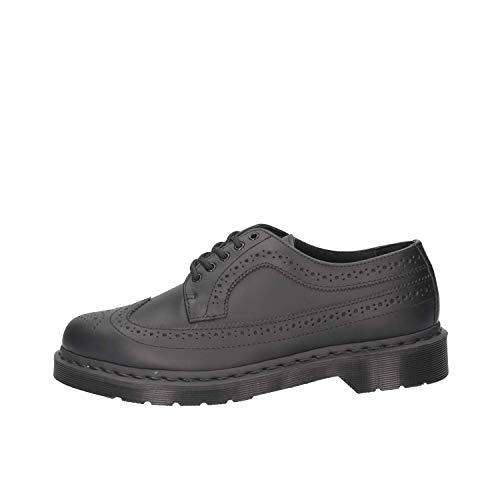 Dr. Martens 3989 Smooth Black Wingtip Brogue Halbschuhe Schwarz Leder, Schuhgröße:EUR 44 Martens 3989 Wingtip