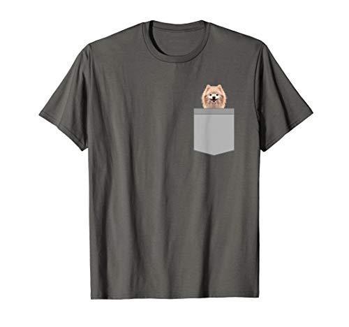 Lustiger pommerscher Hund in einem Taschen-netten Welpen T-Shirt (Lustig Pommerschen Kostüm)