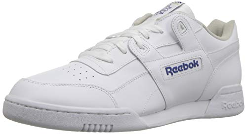 Reebok Herren Workout Plus Low-Top, Weiß (Wht/Royal), 44 EU -