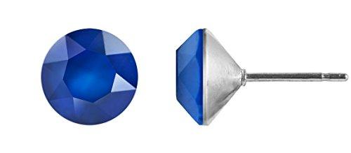 Ohrstecker Kegel 6mm Chaton, Farbe:royal blue -