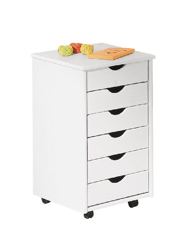 Links office 20 - cassettiera. dim: 36x40x65 h cm. col: bianco. mat: legno massello.