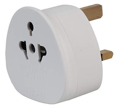 Preisvergleich Produktbild 2 Pin auf 3 Pin 1A Sicherung Adapter Stecker für Rasierer Zahnbürste