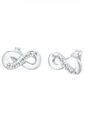 Elli Damen Ohrringe mit Infinity Symbol Swarovski Kristalle in 925 Sterling Silber
