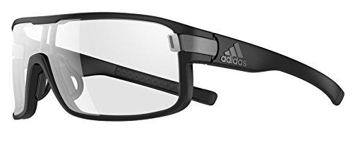 Adidas - ZONYK S AD04, Sportbrille, Acetat, Herrenbrillen, MATTE BLACK/VARIO CLEAR GREY CAT.0-3(6056 BS)