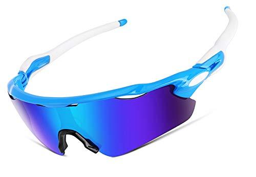 FEISEDY Polarisierte Sport Sonnenbrillen Wechselgläser TR90 Rahmen Radfahren Laufen Angeln Golf Gläser B2280