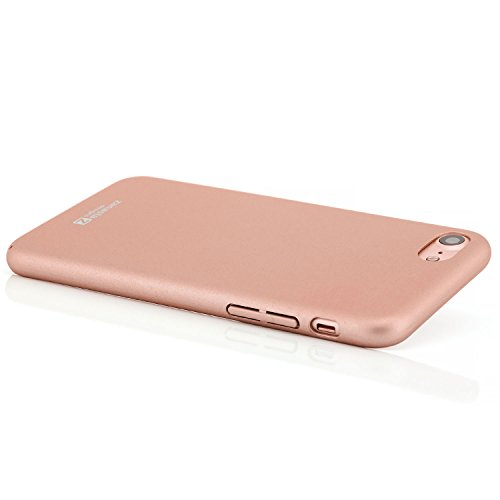 Zanasta Designs iPhone 7 Coque Housse Ultra Mince Case Premium Hard Cover léger et ajustement parfait (Exact-Fit) - Mat (Or) Rose gold Or