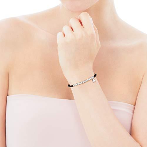 Imagen de tous pulsera hiper micro de plata y cordón en color negro alternativa