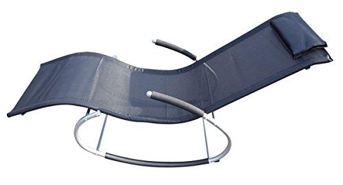 Fachhandel Plus Gartenliege Schaukelliege Sonnenliege Relaxliege Liegestuhl mit Kopfkissen
