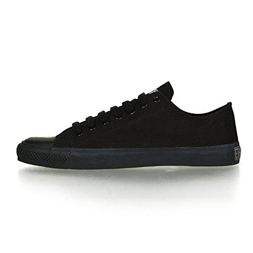 Ethletic Black Cap vegan LoCut - Farbe jet black / black aus Bio-Baumwolle Größe 42 - 3