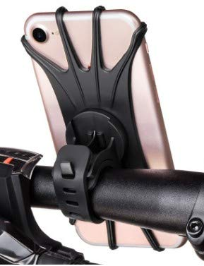 sasm Bike Phone Mount, Silikon Fahrrad Halter Motorrad Lenker Mount, Universal Fahrrad Handy Halterung Passend Für iPhone X, 8/8Plus, 7, 6/6S Plus, Galaxy S9/S9Plus, S8/S8Plus, 360° Rotation