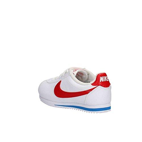 Nike Jungen Cortez (Ps) Laufschuhe, Weiß Blanco (White / Challenge Red-Soar)