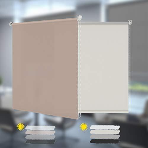 Allesin Estor Enrollable Cortina Translúcido Paca para Ventanas y Puertas 90 x 150 cm Tageslichtrollo mit Klemmträger Seitenzugrollo