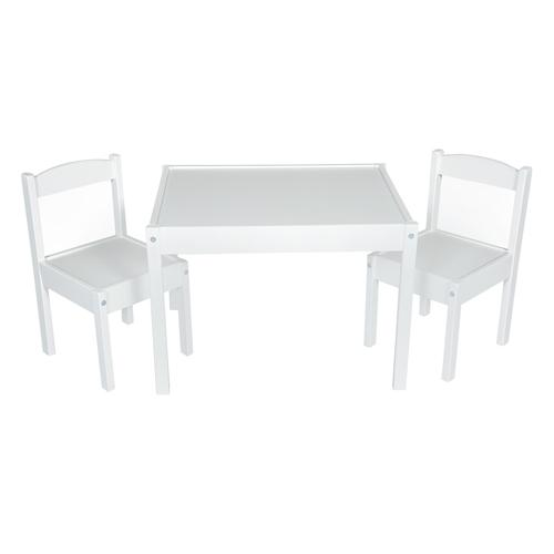 tots cots kids table 2 chair set white baby. Black Bedroom Furniture Sets. Home Design Ideas