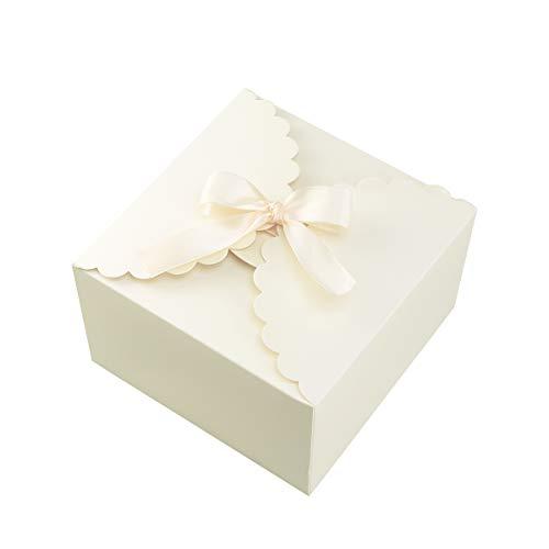 15 Stücke Papier Pralinenschachtel Einfarbig Geschenk Fall Behandelt Delicate Snack Goodies Pralinenschachteln Party Supplies (Gelb)